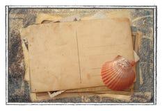 Pile de vieilles cartes postales Photo stock
