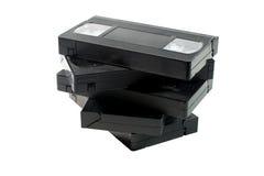 Pile de vieilles cassettes vidéo images libres de droits