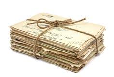 Pile de vieilles lettres Image libre de droits