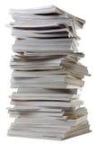 Pile de vieilles revues épaisses. Photographie stock libre de droits