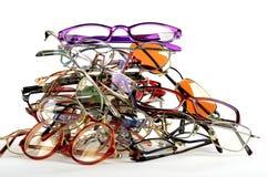 Pile des lunettes utilisés Photo stock