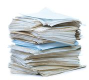 Pile de vieux papier Images libres de droits