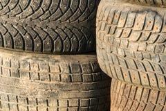 Pile de vieux pneus Photos stock