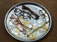 Pile de vieux verres Images stock