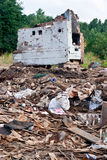 A pile of debris. Of destroyed building Stock Image