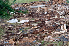 A pile of debris Royalty Free Stock Image