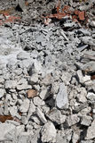 A pile of debris. THESSALONIKI, GREECE - AUG 8: Material from demolished house on August 8, 2012 in Thessaloniki,Greece Royalty Free Stock Images