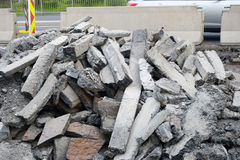 Pile of debris Royalty Free Stock Photos