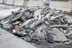 Pile of debris Stock Image