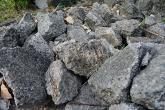 Pile of debris of a destroyed stone Royalty Free Stock Images