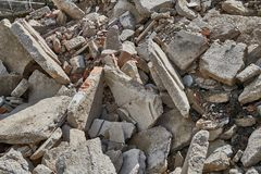 Pile of debris royalty free stock photography