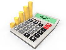 pile del calcolatore 3d e delle monete Fotografie Stock