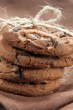 Pile of delicious chocolate chip cookies Stock Image