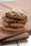 Pile of delicious chocolate chip cookies Stock Photography