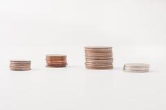 Pile della moneta Fotografie Stock Libere da Diritti