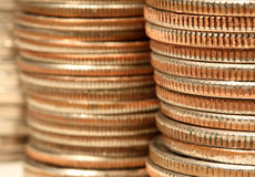 Pile della moneta Fotografia Stock