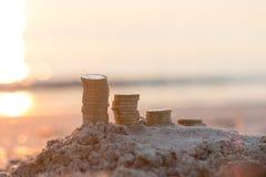 Pile della moneta di libbra Immagine Stock Libera da Diritti