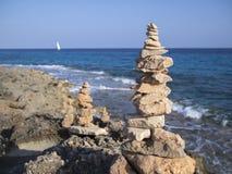 Pile della pietra Fotografia Stock