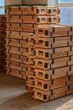 Pile delle casse di legno Immagini Stock Libere da Diritti