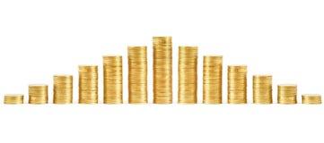 Pile delle monete Immagini Stock