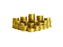Pile delle monete Fotografie Stock Libere da Diritti