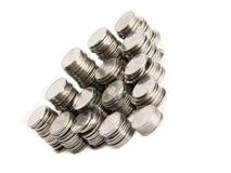 Pile delle monete Fotografie Stock
