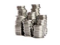 Pile delle monete Immagine Stock