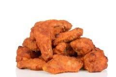 Pile des ailes de poulet Photographie stock