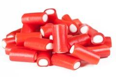 Pile des bâtons de réglisse rouges Photos stock