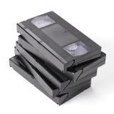 Pile des bandes vidéo de VHS de vintage photo stock