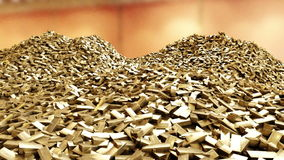 Pile des bars d'or Concept d'affaires illustration de vecteur