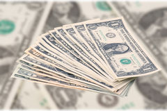 Pile des billets de banque du dollar Images stock