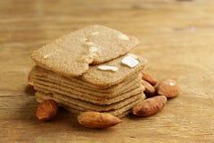 Pile des biscuits d'amande de beurre Photos stock