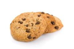 Pile des biscuits de puce de chocolat Images libres de droits