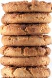 Pile des biscuits de puce de chocolat Image libre de droits