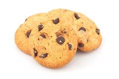 Pile des biscuits de puces de chocolat Image libre de droits