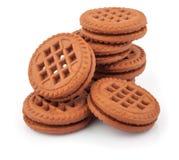 Pile des biscuits de sandwich Photographie stock libre de droits