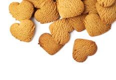 Pile des biscuits en forme de coeur de pain d'épice Images libres de droits