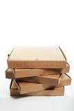 Pile des boîtes à pizza Image libre de droits