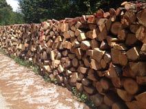 Pile des bois photos stock