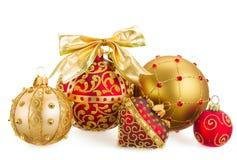 Pile des boules de Noël Images libres de droits