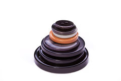 Pile des boutons Images stock