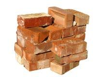 Pile des briques de construction Photo stock