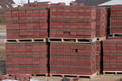 Pile des briques de construction Photo libre de droits