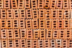Pile des briques de construction, bonne pour le fond de thème de construction photo stock