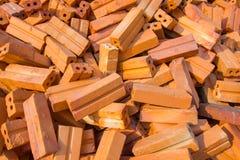 Pile des briques rouges Images libres de droits