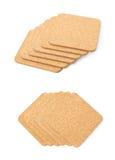 Pile des caboteurs texturisés par liège d'isolement Photo stock