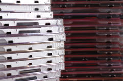 Pile des cadres CD. Photographie stock libre de droits
