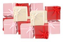 Pile des cadres de cadeau Photo stock