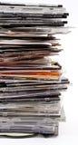 Pile des caisses de disque optique Photographie stock libre de droits